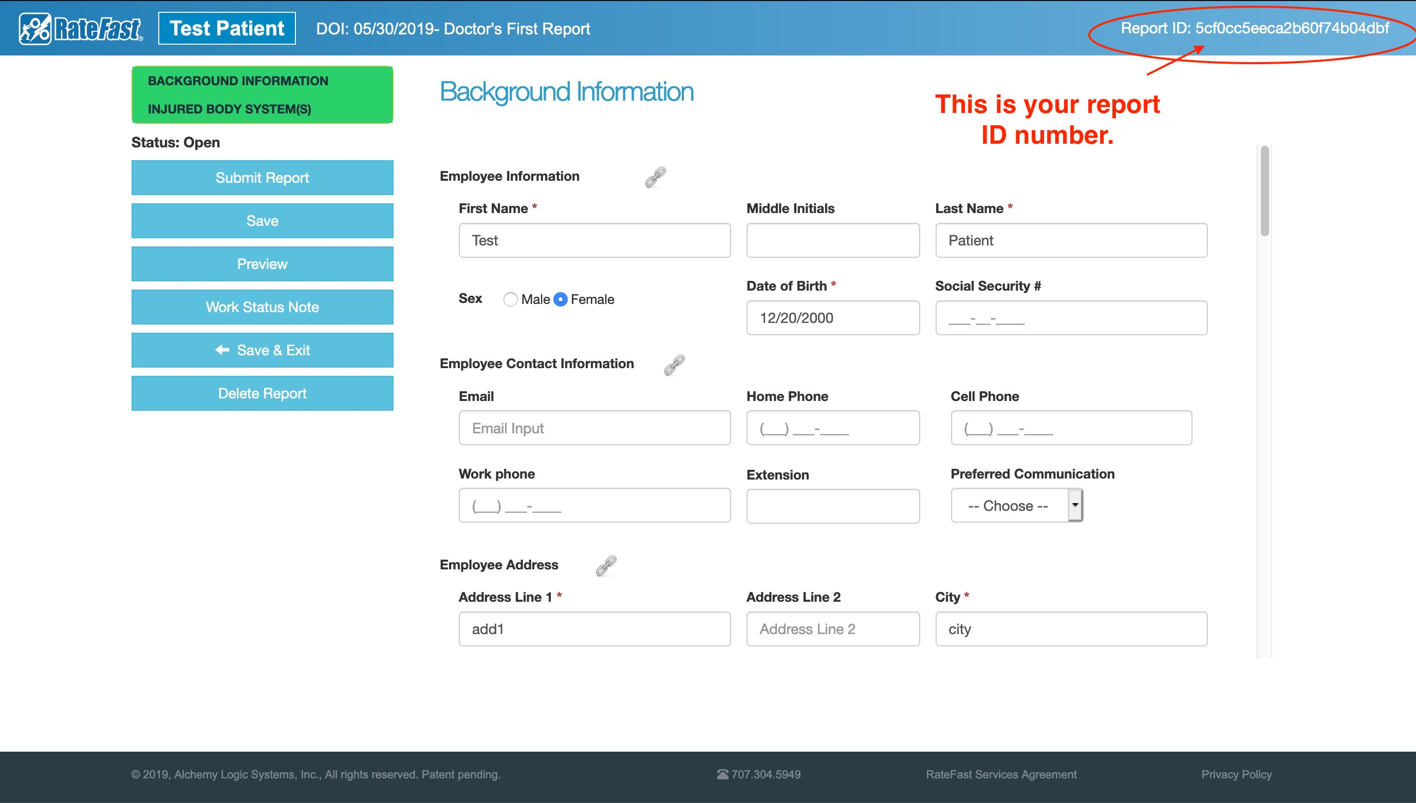 How to Get a RateFast Report ID Number